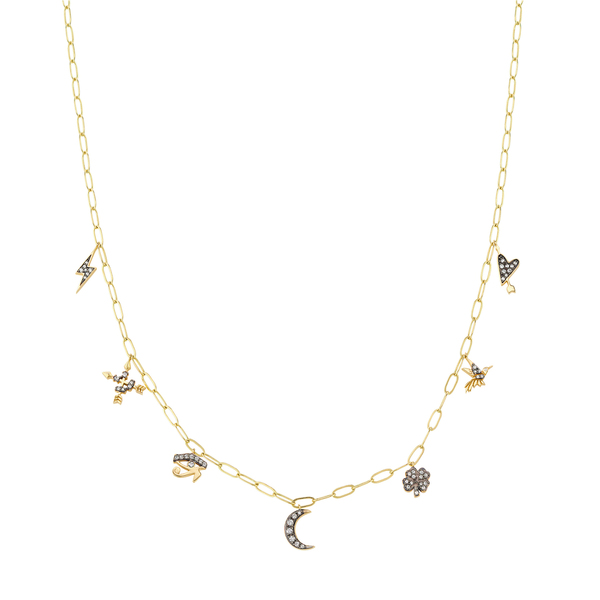 Sorellina Motif Dangle Necklace