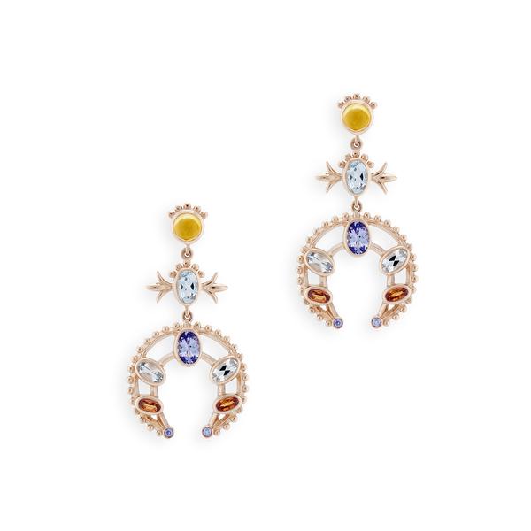 MARLO LAZ Squash Blossom Earrings