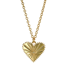 Pour Toujours Heart Coin Necklace