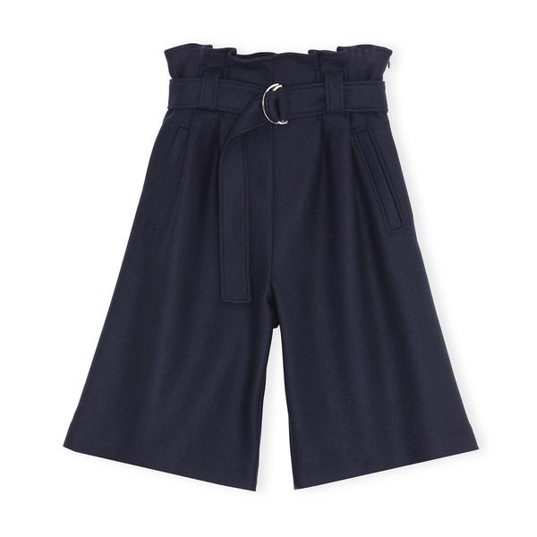 Ganni Wool-Blend Bermuda Shorts