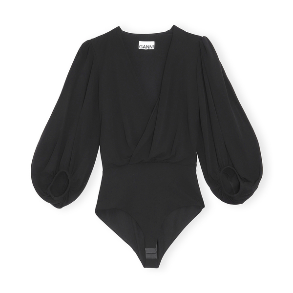 Ganni Balloon-Sleeve Bodysuit