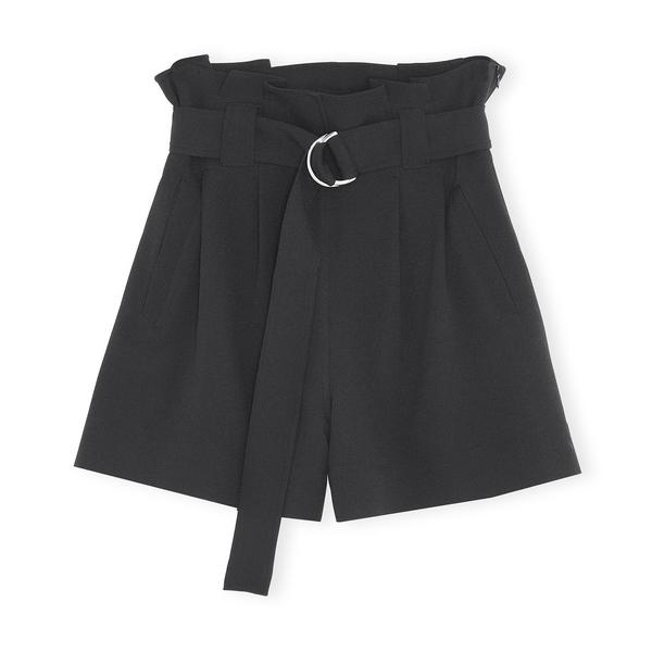 Ganni Heavy Crepe Shorts