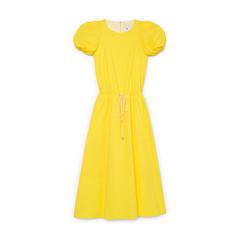 Zelda Rounded-Sleeve Drawstring Dress