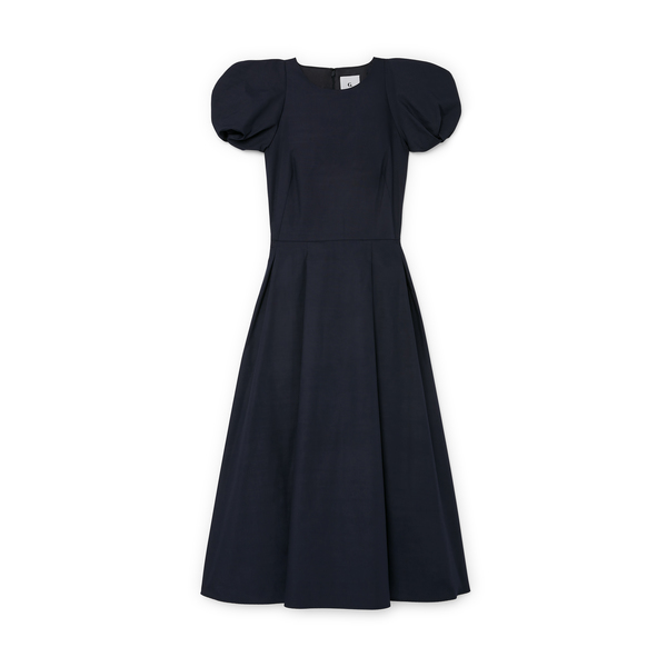 G. Label Elle Rounded-Sleeve Midlength Dress