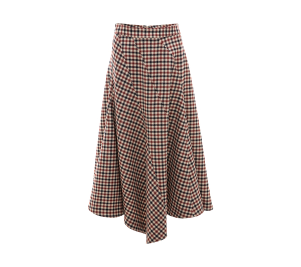 JW Anderson Seamed Spiral Skirt