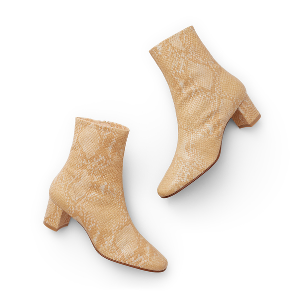 BY FAR Shoes Sofia Snake-Print Boots