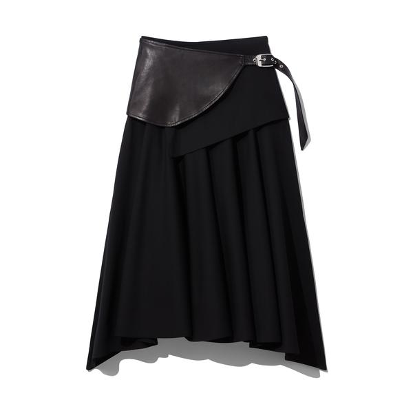 Proenza Schouler Belted Wool Skirt
