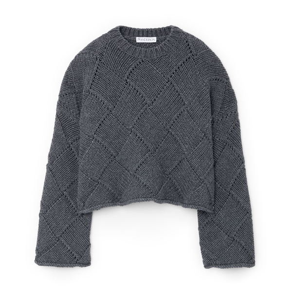 JW Anderson Cropped Crewneck Sweater