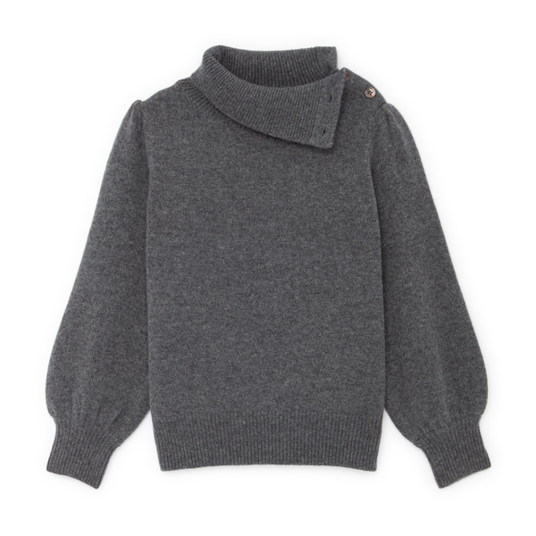 Co Button Shoulder Sweater