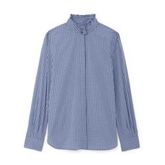 Monica Pleated-Collar Shirt