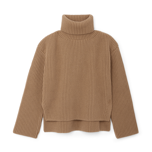 G. Label Frist Wide-Rib Turtleneck