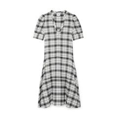 Daun Puff-Sleeve Henley Dress