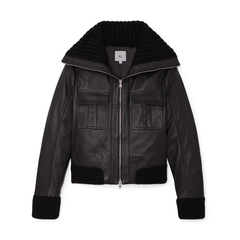 Brille Leather Bomber Jacket