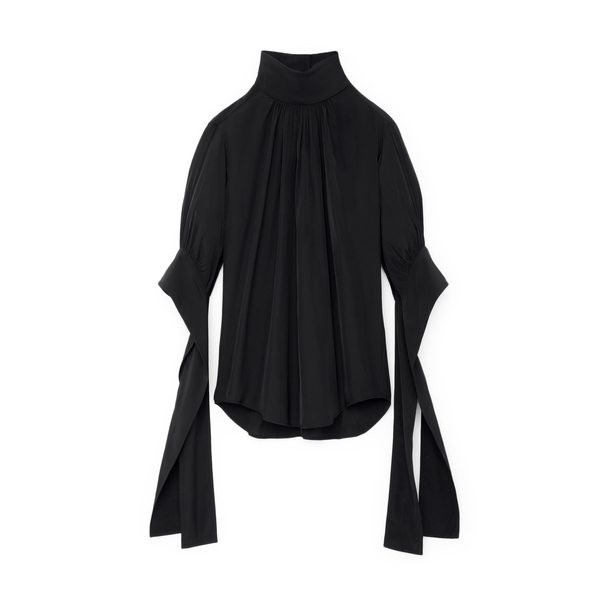 JW Anderson Tab Sleeve Mock-Neck Top