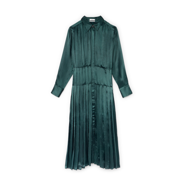Co Pleated Shirtdress