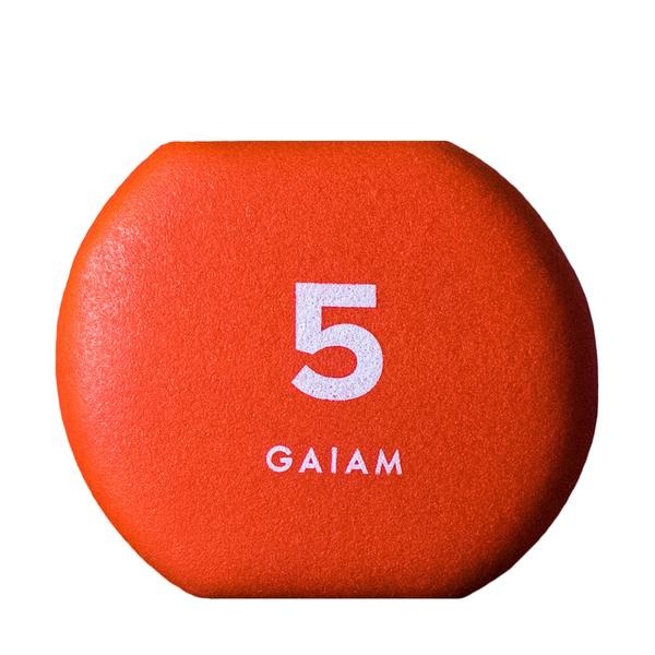 GAIAM Neoprene Hand Weights 5lb