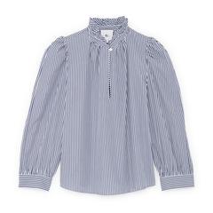 Erin Ruffle-Neck blouse