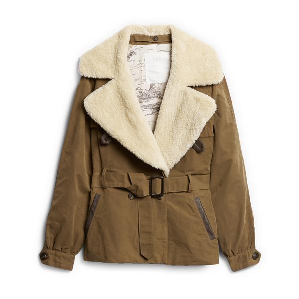 BANANA REPUBLIC Heritage Shearling-Collar Jacket