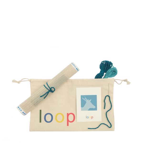 Loop Canvas  Deer Needlepoint Kit