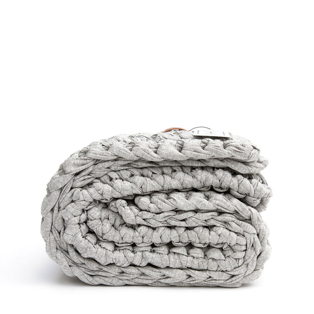Sheltered Co. Petite Weighted Blanket In Heather Grey