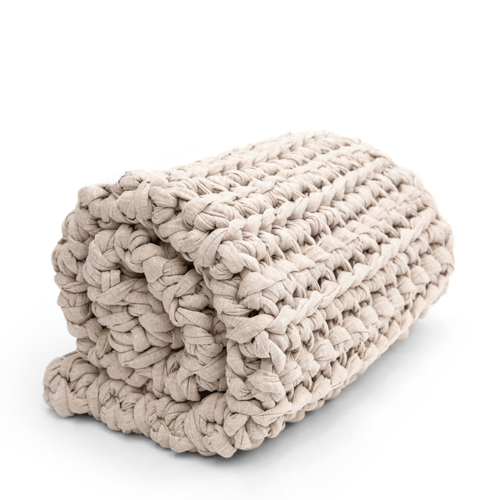 Sheltered Co. Petite Weighted Blanket In Oatmeal