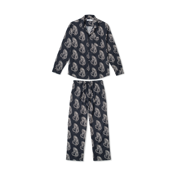 DESMOND AND DEMPSEY Men's Tiger Pajama Set