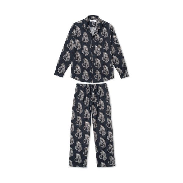 Desmond and Dempsey Men's Tiger Pajama Set