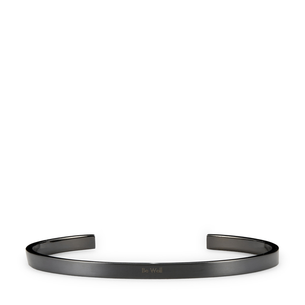 HNDSM Be Well Black Titanium Cuff