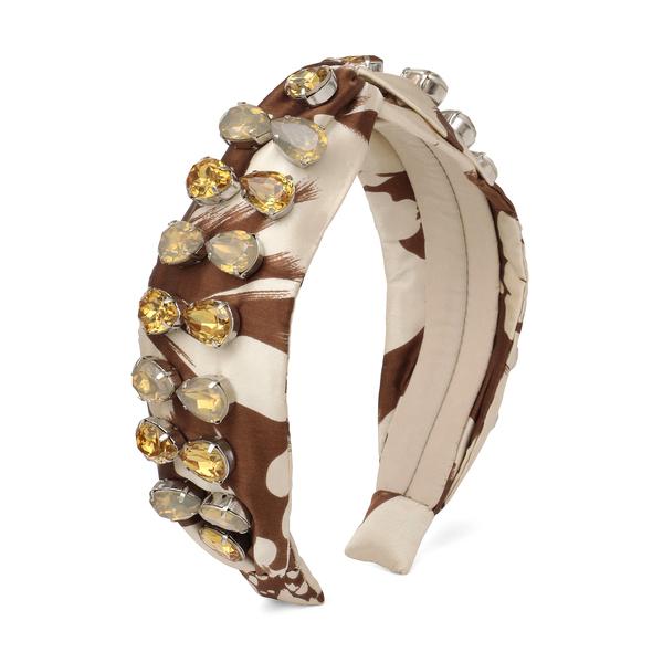 Autumn Adeigbo Brown & Cream Beaded Headband