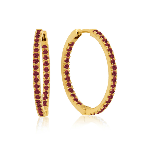 Jennifer Meyer Small Inside-Out Ruby Hoops