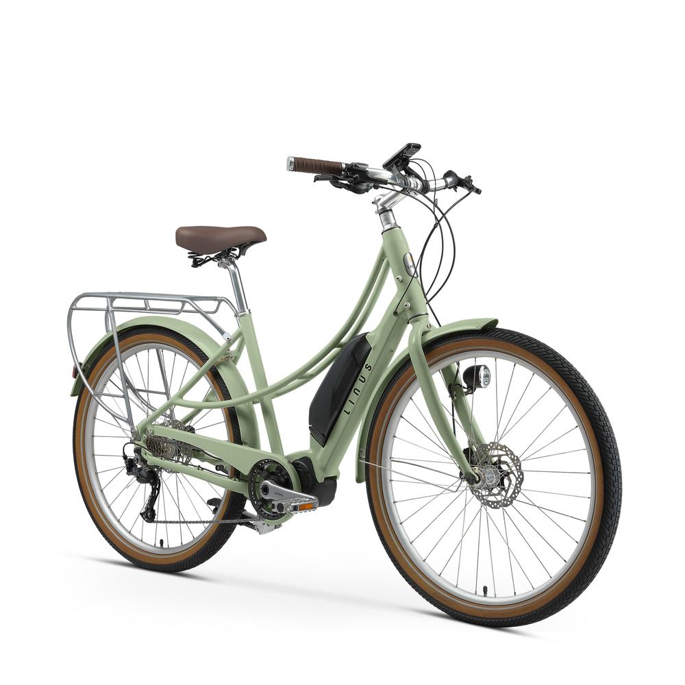 Linus Ember Electric Bike In Green