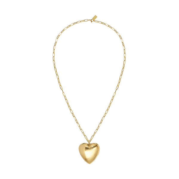 Lauren Rubinski 14-Karat Gold Heart Necklace