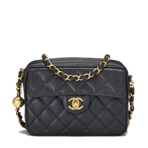 WHAT GOES AROUND COMES AROUND Chanel Black Pocket Box Camera Mini Bag