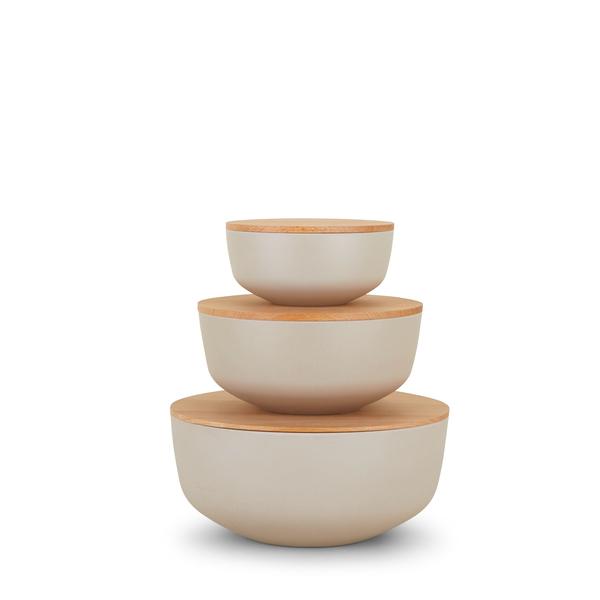 Hawkins New York Essential Lidded Bowls, Set of 3
