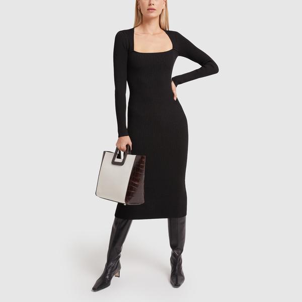GANNI Mélange Knit Dress