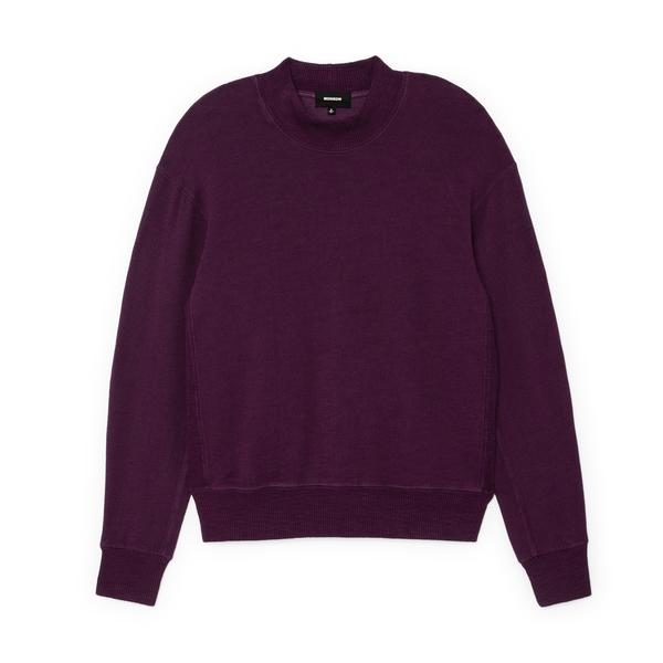 MONROW Supersoft Mock-Neck Seamed Sweatshirt