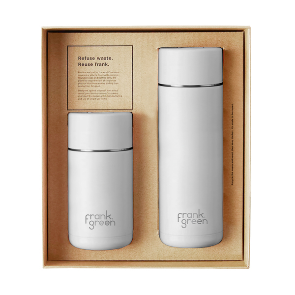 Frank Green Ceramic Cup and Bottle Gift Set