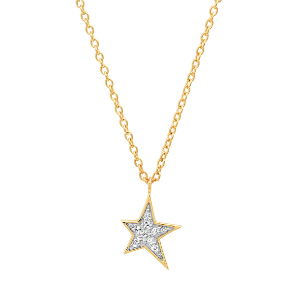 Eriness Diamond Star Charm Necklace