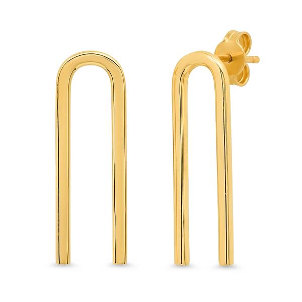 Eriness Gold Magnet Earrings