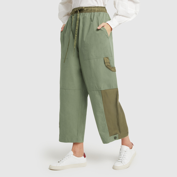 LEE MATHEWS Birder Spliced Wide-Leg Pants