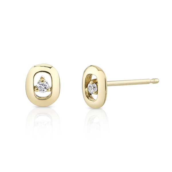 Lizzie Mandler XS Link and Diamonds Studs
