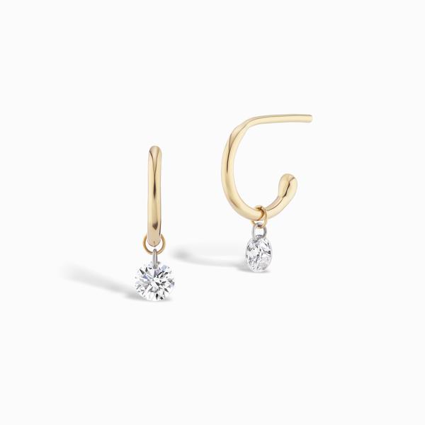 Sophie Ratner Pierced Diamond Huggies