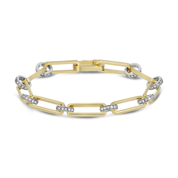 Nancy Newberg Diamond Chain-Link Bracelet