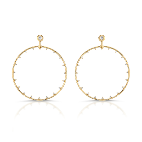 Nancy Newberg Diamond Hoops