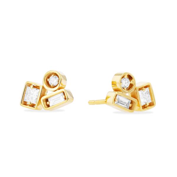 Suzanne Kalan Adalene White Diamond Earrings