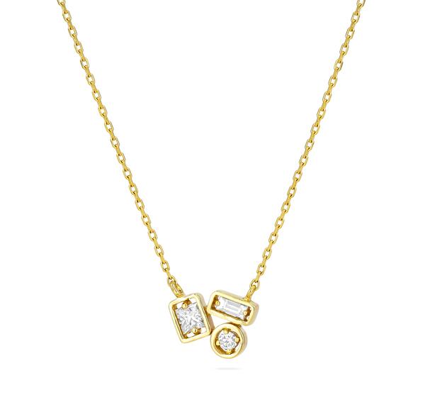 Suzanne Kalan Adalene White Diamond Necklace