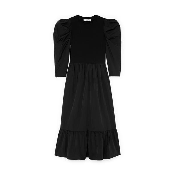 SEA Nadja Taffeta Midi Dress