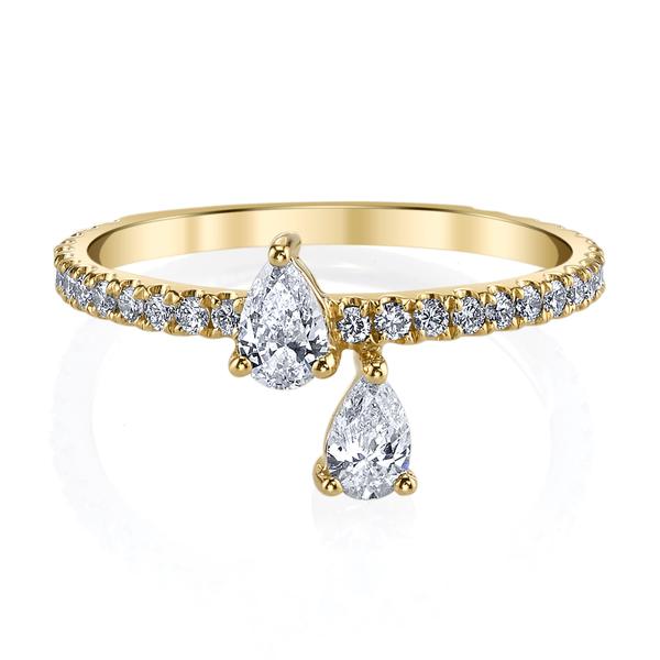 Anita Ko 18-Karat Yellow Gold Princess Eternity Ring