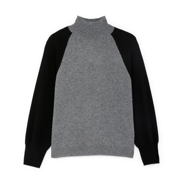 MONROW Cashmere Mock-Neck Sweater