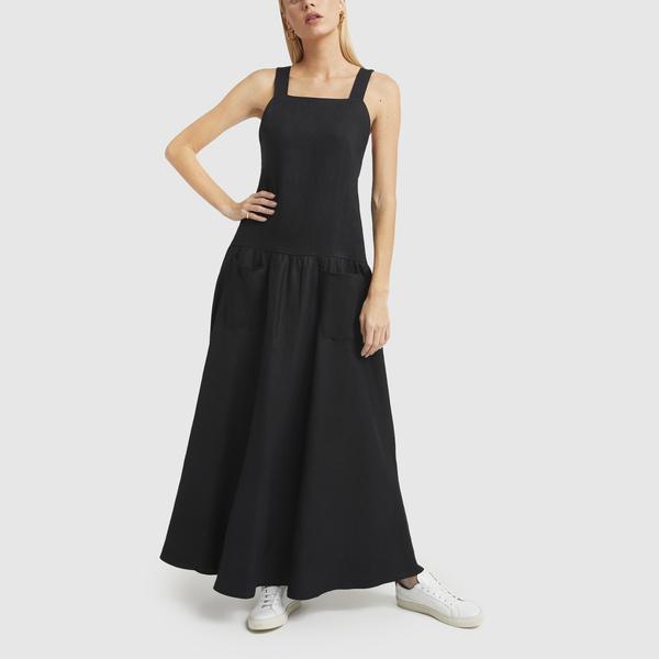 MATIN Cross-Back Linen Dress